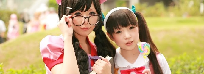 Japanese cosplays at the Comiket 78