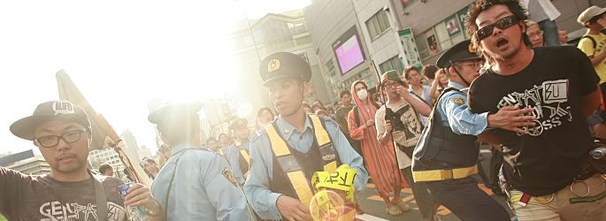 Anti-nuke demonstration in Shinjuku on 9/11