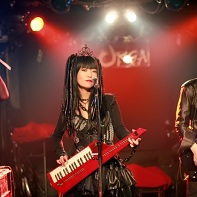 The Japanese cyberpunk industrial band Psydoll: Uenoyama/Loveless, Nekoi, Ucchi.
