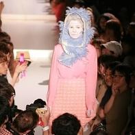 Most of Yoshikazu Yamagata's fashion designs were made from wool.