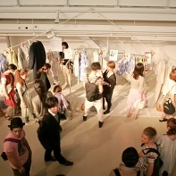 Yoshikazu Yamagata's actual fashion from the show was for sale at a special after-show backstage event.