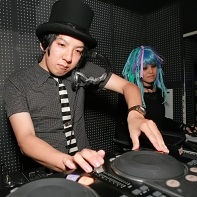 Another set of DJs at the Gothic Bar Heaven 25 event.