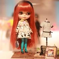 "The Blythe doll beauty contest entry ""Ayu's Sunday"" by Atelier Nina."
