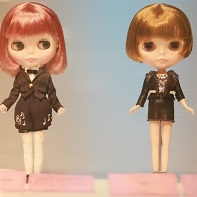 The Miho Matsuda (left) and Tibi (right) Blythe dolls.