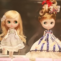 A Princess Doll Blythe doll (left) and an Emily Temple cute Blythe doll (right).