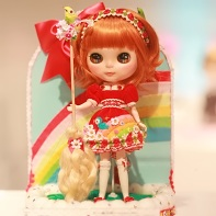 The Rainbow Witch Blythe doll for the beauty contest created by Pon Pon Pretties.