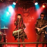 The Japanese cyberpunk band Psydoll performing at the Machine Magic event at Urga.