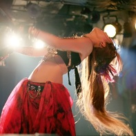 Gothic Fusion Belly Dance at Club Crawl by performer MiN.