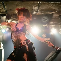 Another shot of belly dancer Neo during her dance performance in Tokyo.