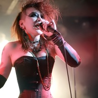 Singer Ageha of the Japanese dark electro band Zwecklos.