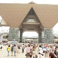 Tokyo Big Sight on Odaiba where the Comiket was happening.