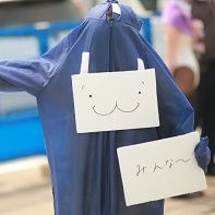 A distinctive but not yet identified cosplay at the Comiket 78.