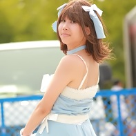 An as yet unidentified cosplay (Idolmaster?) of the Comiket 78.