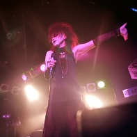Singer Ageha of the Japanese dark electro band Zwecklos at the Live Inn Rosa.