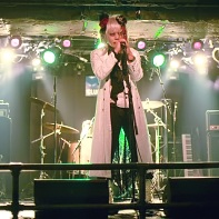 Mr. Chaos solo on stage at the Gothic Bar Heaven 28 event.