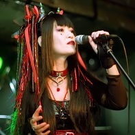 Singer Nekoi of the Japanese cyber gothic rock band Psydoll.
