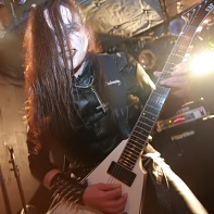 As all band members lead guitarist Sariel Evileye was dressed in full satanist attire.
