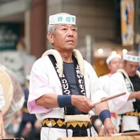 As these drummers show, the Awa Odori dance festival is for all ages.