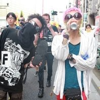 Public anti-nuclear protests are still an mostly extreme leftist issue in Japan, as these punk activists show.