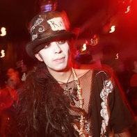 Japanese goth guy on the dancefloor.