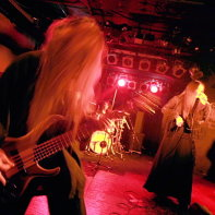Metal band PeaceToPieces performing on stage at the Live Inn Rosa in Ikebukuro, Tokyo.