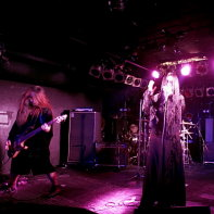 From left to right: Bass player Peat, singer Ryo☆キラリーン and guitarist Sujio of PeaceToPieces.