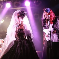 Another shot of Remnant's vocalist Marie in her gothic lolita outfit.