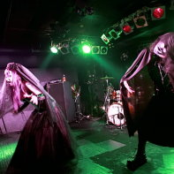 Japanese Industrial band Zwecklos performing at the Live Inn Rosa.