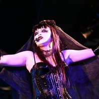 Zwecklos' singer Ageha in her scary make-up.