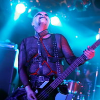 Hernia 44's frontman Hirohisa Nagao (Thunder) performing at the Club Theatic goth event.