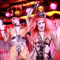Singer Maiya of Japanese 'death disco' band Death Trance Delilah.