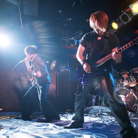 Zodiaque at the Live Inn Rosa: singer Naoto, guitarist Jun and drummer LRZ.