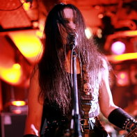 Bass player and singer Ken of the Japanese metal band Zodiaque.