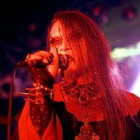Japanese singer Chihiro of Vanished Empire in red light.