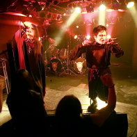 Vanished Empire's singers Chihiro and Dee Lee entertaining the crowd at the Artism live event in Ikebukuro.