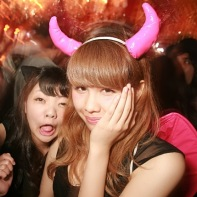 A look at one of the dance floors during the pre-Helloween party in Shibuya.