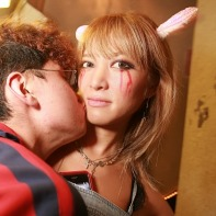A drunk Japanese guy used my picture-taking to kiss this very surprised girl.