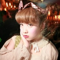 A Japanese girl going for the kawaii cute look at the Noir Halloween party.