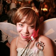 Japanese fairy girl during the Noir Halloween party.