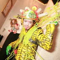 Another guy in a quirky Japanese Halloween costume.