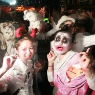 A look at the Halloween party crowd at the Trump Room.