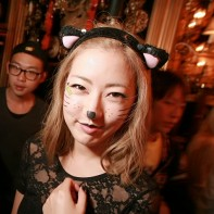 Another cute Japanese catgirl at the Noir Halloween party.
